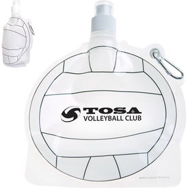 HydroPouch Volleyball Collapsible Bottle (24 Oz.)