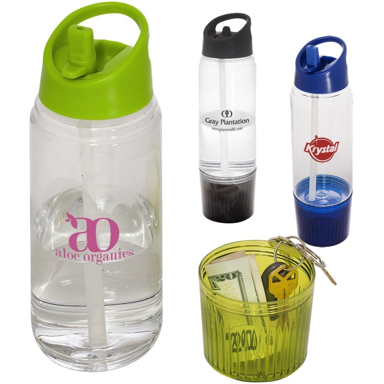 Water Bottle With Detachable Cup 20 Oz Imprinted
