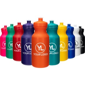 Water Bottle with Push Cap (20 Oz.)