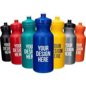 Water Bottles with Push Cap (20 Oz.)