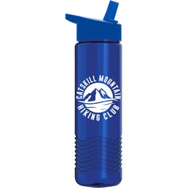 Wave Bottles with Flip Straw Lid (24 Oz.)