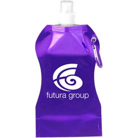 Imprinted Wave Collapsible Water Bottle