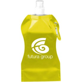 Custom Wave Collapsible Water Bottle