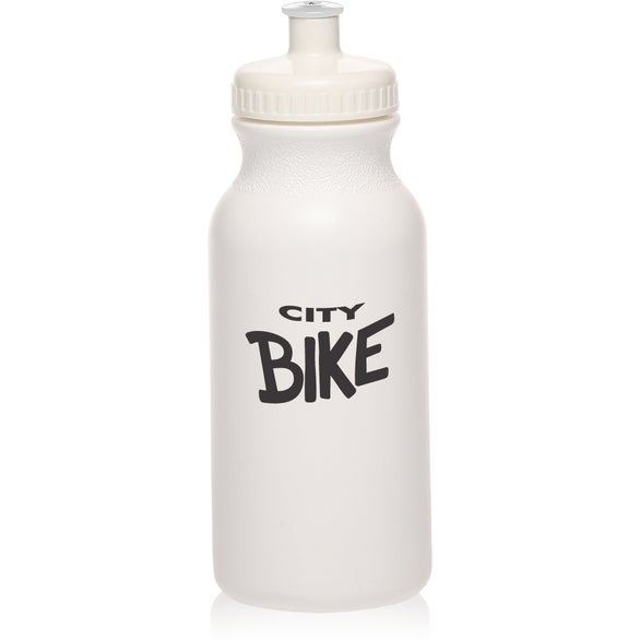 White White Water Bottle with Push Cap
