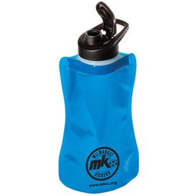 Wide-Mouth Flip-Top Flexi Bottle Printed with Your Logo