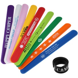 Silicone Slap Bracelets (Colors)