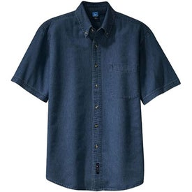 Port and Company Short Sleeve Denim Shirt