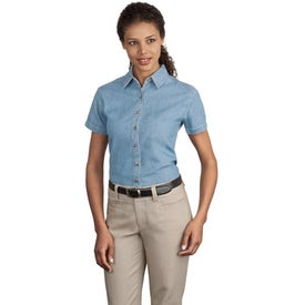 Port and Company Ladies Short Sleeve Value Denim Shirt for Your Company