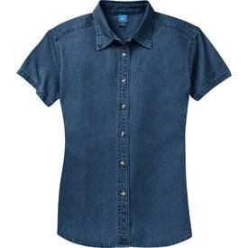 Port and Company Ladies Short Sleeve Value Denim Shirt for Customization