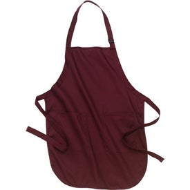 Port Authority Full Length Apron with Pockets Printed with Your Logo