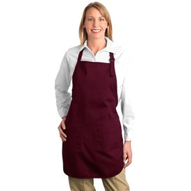 Branded Port Authority Full Length Apron with Pockets