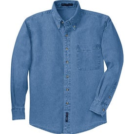 Port Authority Long Sleeve Denim Shirt