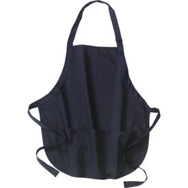 Port Authority Mid-Length Apron with Pouch Pockets Imprinted with Your Logo