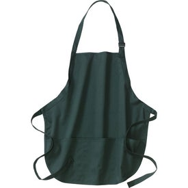 Advertising Port Authority Mid-Length Apron with Pouch Pockets