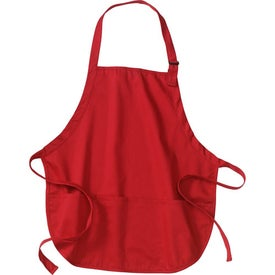 Customized Port Authority Mid-Length Apron with Pouch Pockets