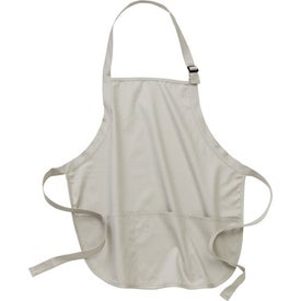 Personalized Port Authority Mid-Length Apron with Pouch Pockets