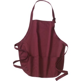 Port Authority Mid-Length Apron with Pouch Pockets