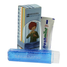 Travel Toothbrush with Box and Toothpaste