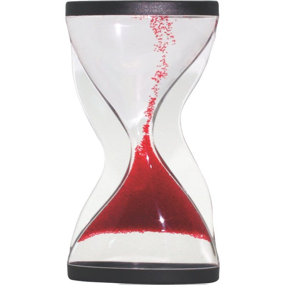 Clear / Red Large Times Up Sand Timer