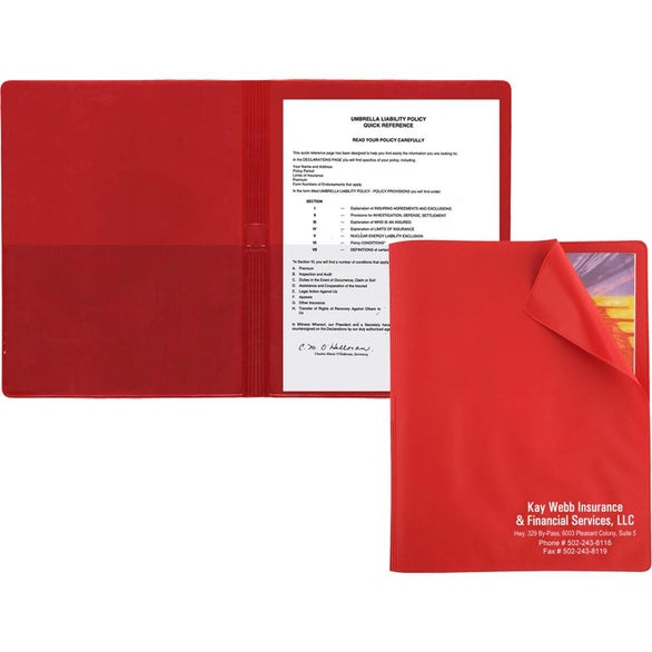 Red Flexible Cover Presentation Folder