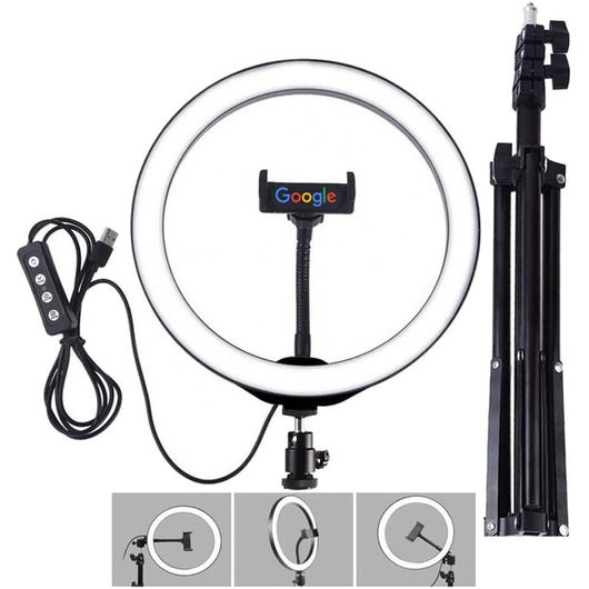 Black / White iBank Home Streaming Studio with Light, Tripod and Remote