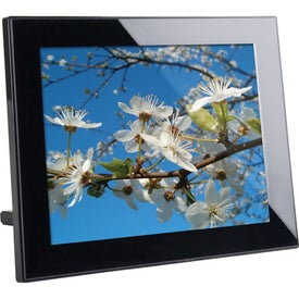 "10"" Black Thin Panel Digital Photo Frame Branded with Your Logo"
