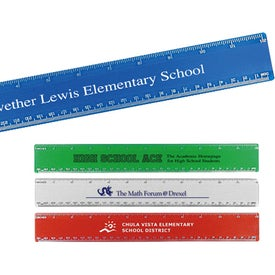 "12"" Beveled Plastic Ruler (Digitally Printed)"