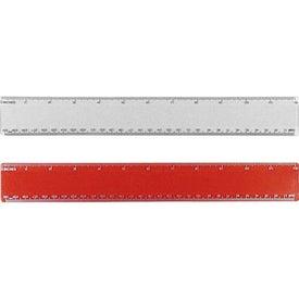 """12"""" Beveled Plastic Ruler for Advertising"""