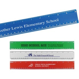 "Beveled Plastic Ruler (12"")"