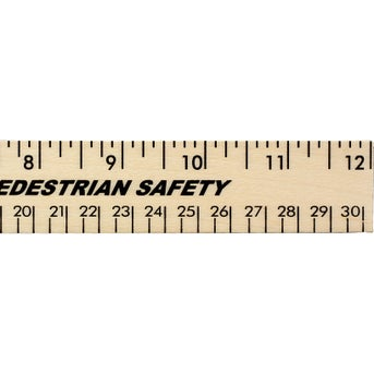 Save Big On 12 Clear Lacquer Wood Rulers Printed With Your Logo