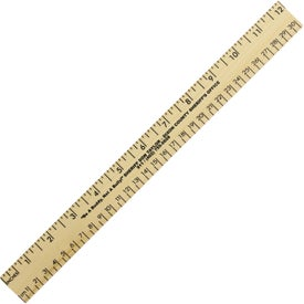 "12"" Clear Lacquer Wood Ruler"