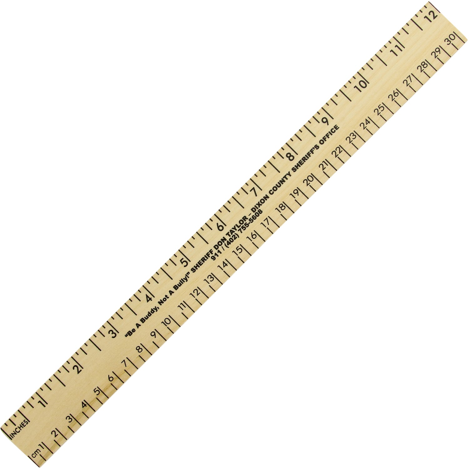12 Clear Lacquer Wood Ruler
