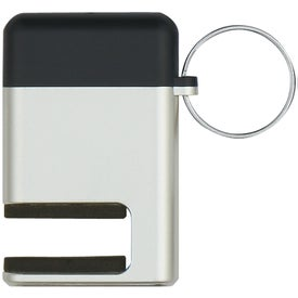 Printed 2 In 1 Phone Stand and Screen Cleaner With Key Ring