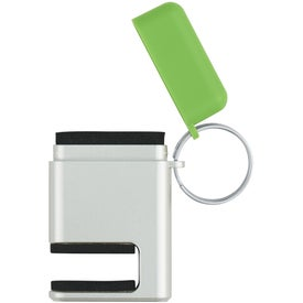 2 In 1 Phone Stand and Screen Cleaner With Key Ring for Advertising