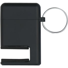 Personalized 2 In 1 Phone Stand and Screen Cleaner With Key Ring