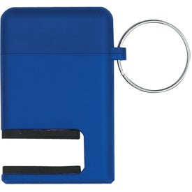 Branded 2 In 1 Phone Stand and Screen Cleaner With Key Ring
