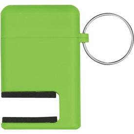 2 In 1 Phone Stand and Screen Cleaner With Key Ring Branded with Your Logo