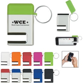 2 In 1 Phone Stand and Screen Cleaner With Key Ring for Promotion