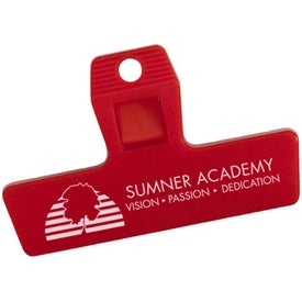 """2"""" Mini Bag Clip with Magnet Branded with Your Logo"""
