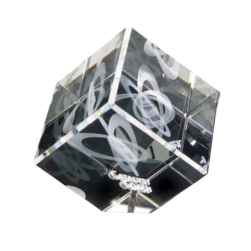 Clear 3D Crystal Jewel Cube