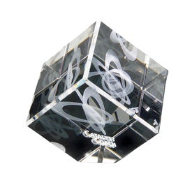 3D Crystal Jewel Cube
