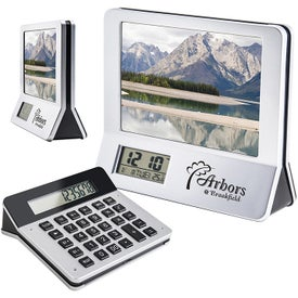 3 In 1 Calculator Picture Frame LCD Digital Clock with Your Logo
