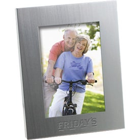 Brushed Silver Metal Frame
