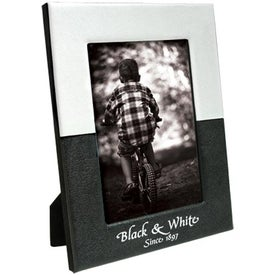 4 x 6 Black and White Frame Imprinted with Your Logo