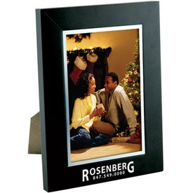 Promotional 4 x 6 Black Wood Frame with Silver Bevel