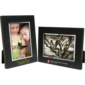 Company 4 x 6 Black Wood Frame with Silver Bevel
