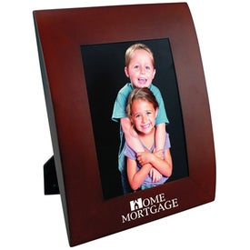 4 x 6 Curved Wood Frame Branded with Your Logo