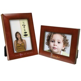 4 x 6 Faux Mahogany Frame for your School