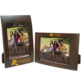 4 x 6 Faux Wood Frame Printed with Your Logo