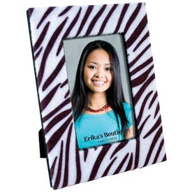 4 x 6 Faux Zebra Fur Frame with Your Slogan